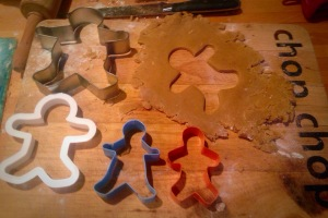 So many gingerbread cutters but not a dress in sight..